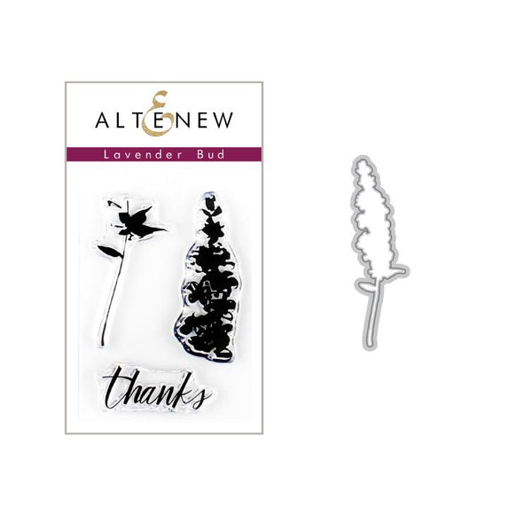 Altenew - Lavender Bud Stamp & Die Bundle
