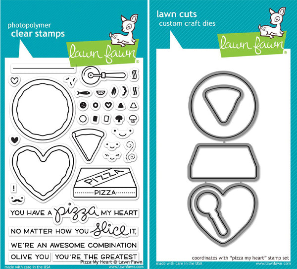 Lawn Fawn - Pizza My Heart stamp & die bundle