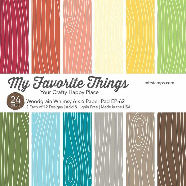 My Favorite Things - Woodgrain Whimsy 6 x 6 paper pad