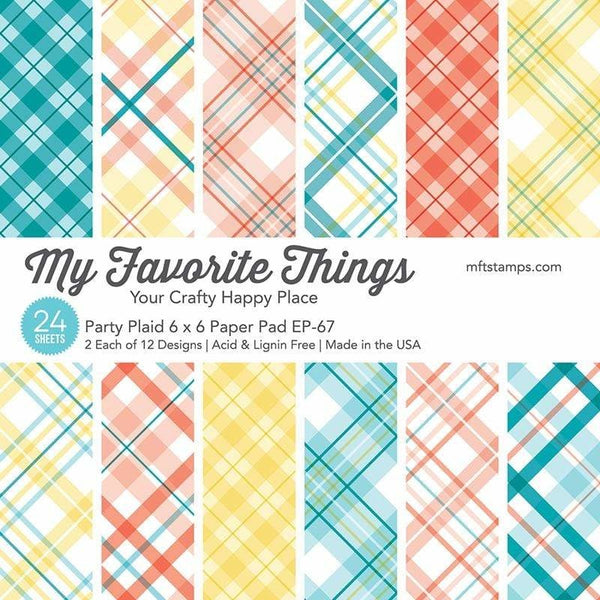 My Favorite Things - Party Plaid - 6 x 6 Paper Pad