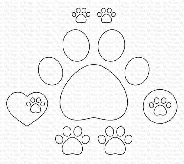 My Favorite Things - Paw Prints die set