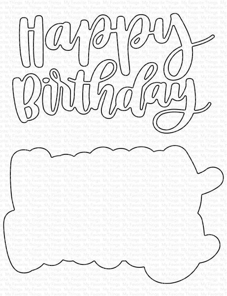 My Favorite Things - Hand-Lettered Happy Birthday die set
