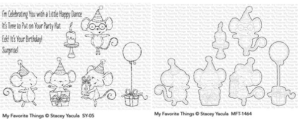 My Favorite Things - Its a Mice Time To Celebrate stamp & die bundle