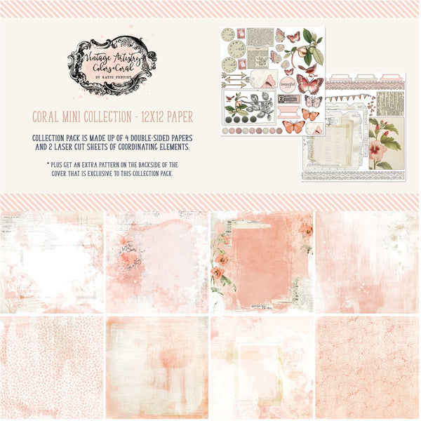 49 and Market - Vintage Artistry - Coral Mini Collection Kit