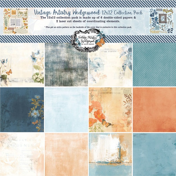 49 and Market - Vintage Artistry - Wedgewood 12 x 12 Collection Kit