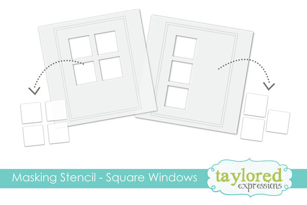 Taylored Expressions - 6x6 Masking Stencil - Square Windows