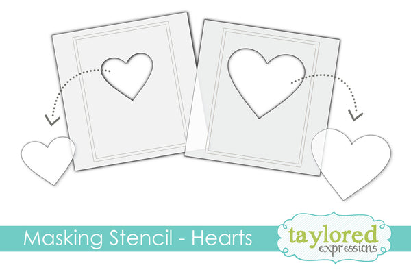 Taylored Expressions - 6x6 Masking Stencil - Hearts