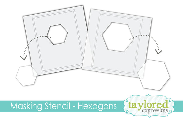 Taylored Expressions - 6x6 Masking Stencil - Hexagons