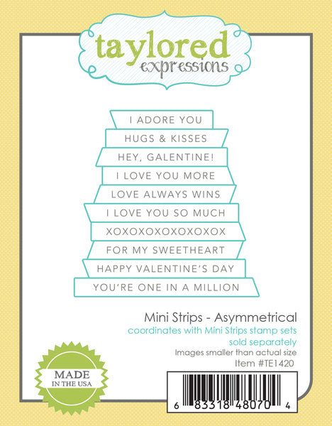 Taylored Expressions - Mini Strips - Asymmetrical Die Set