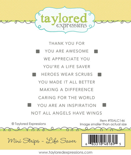 Taylored Expressions - Mini Strips - Life Saver stamp set