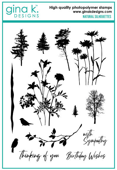 Gina K Designs - Natural Silhouettes stamp set