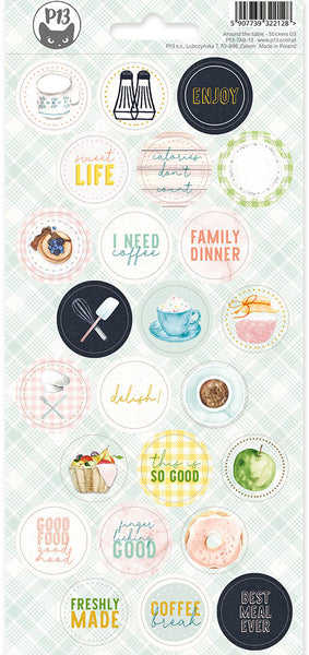 P13 - Around the Table - Sticker Sheet 3