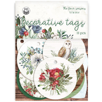 P13 - The Four Seasons - Winter Decorative Tags