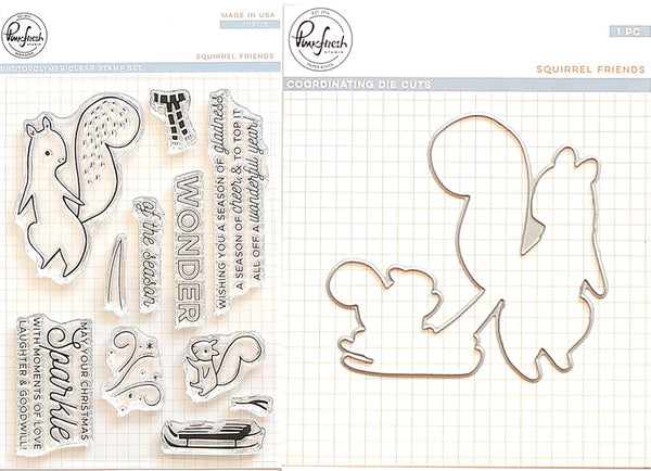 Pinkfresh Studio - Squirrel Friends stamp and die bundle
