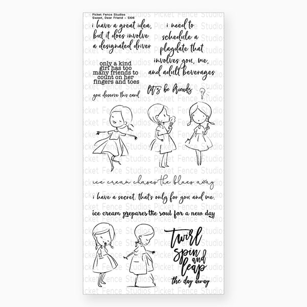 Picket Fence Studios - Clear Stamp - Sweet Dear Friend