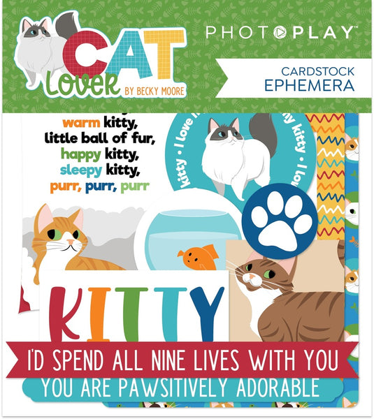Photoplay Paper - Cat Lover - Cardstock Die Cuts pack