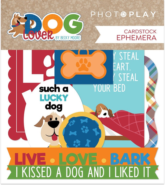 Photoplay Paper - Dog Lover - Cardstock Die Cuts pack