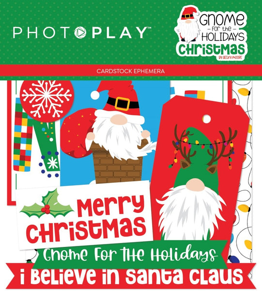 Photoplay Paper - Gnome for the Holidays - Christmas Ephemera Pack