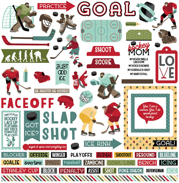Photoplay Paper - Hockey Life - Element Stickers