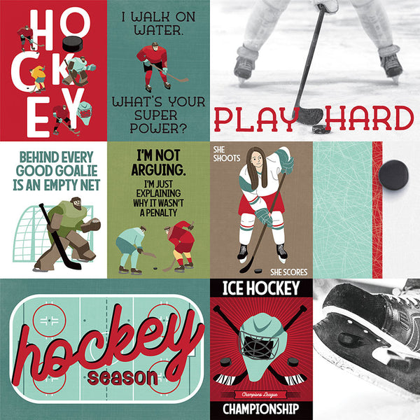 Photoplay Paper - Hockey Life - Play Hard