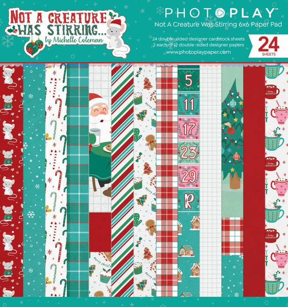 Photoplay Paper - Not A Creature Was Stirring - 6 x 6 Paper pad