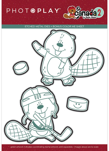 Photoplay Paper - Oh Canada 2 - Beaver Hockey Die set