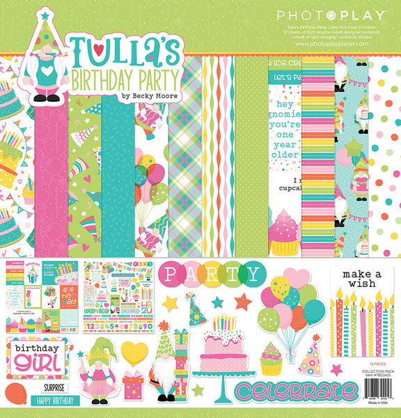 Photoplay Paper - Tulla's Birthday Party - 12 x 12 Collection Kit