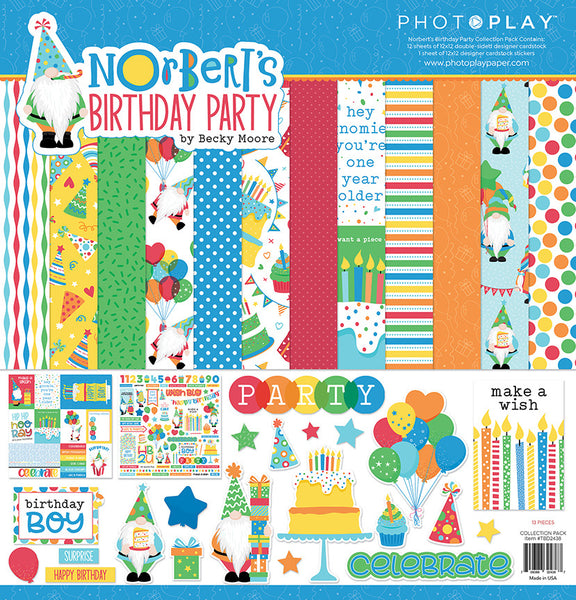 Photoplay Paper - Norbert's Birthday Party - 12 x 12 Collection Kit
