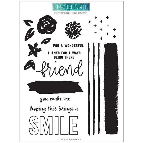 Concord & 9th - Peek-Through Pattern Stamp Set