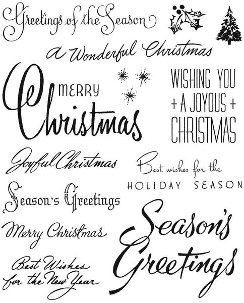 Stampers Anonymous - Tim Holtz - Christmastime 3 stamp set