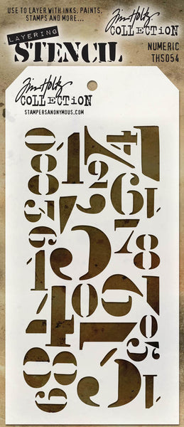 Stampers Anonymous - Tim Holtz -  Layering Stencil - Numeric