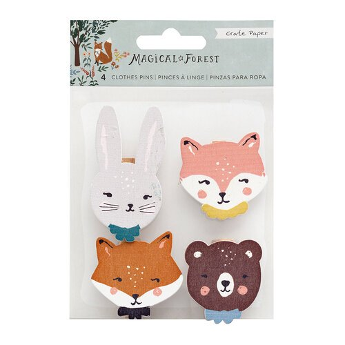 Crate Paper -  Magical Forest - Wood Clothes Pins