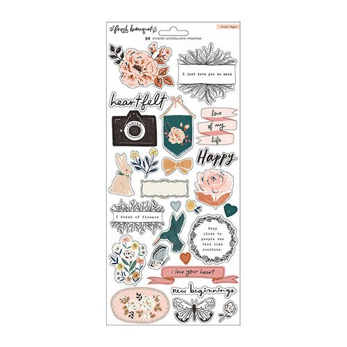 Crate Paper -  Fresh Bouquet - Cardstock Stickers