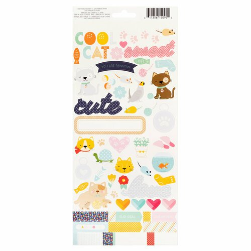DCWV - Playful Pets - Cats Cardstock Stickers