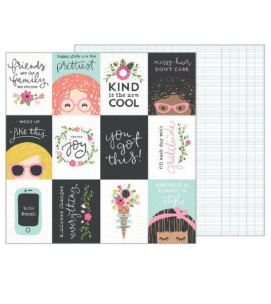 Pebbles - Girl Squad - You Got This pattern paper