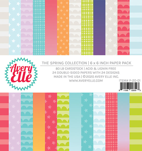 Avery Elle - Spring Collection - 6x6 Paper Pack
