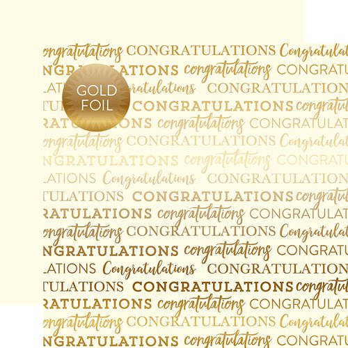 Carta Bella - Congratulations - Gold Foiled cardstock CREAM