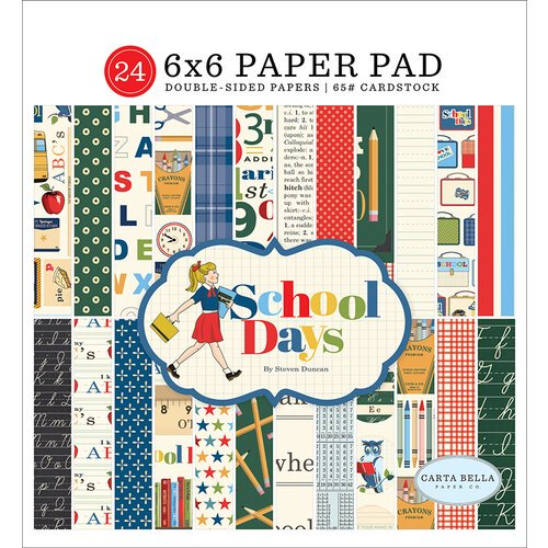 Carta Bella - School Days - 6 x 6 Paper Pad