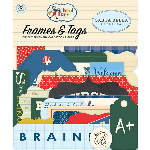 Carta Bella - School Days - Frames and Tags