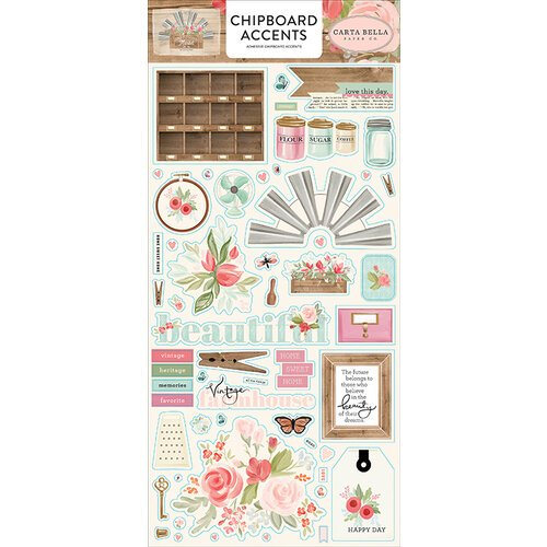 Carta Bella - Farmhouse Market - Chipboard Accents Stickers