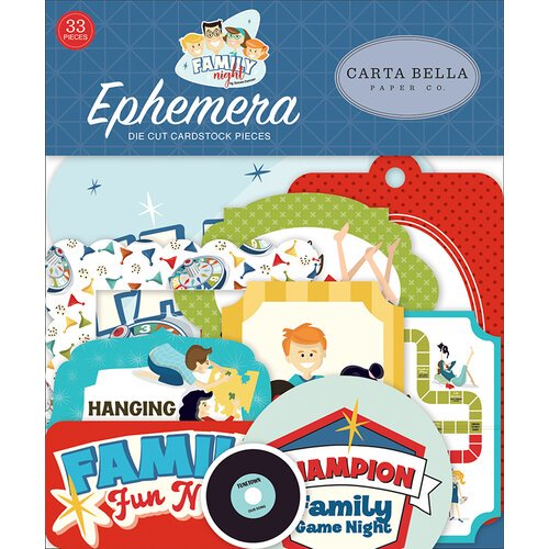Carta Bella - Family Night - Ephemera Pack
