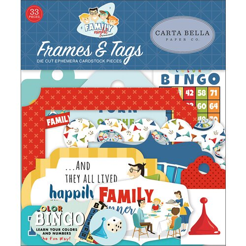 Carta Bella - Family Night - Frames & Tags