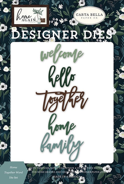 Carta Bella - Home Again - Home Together Word die set