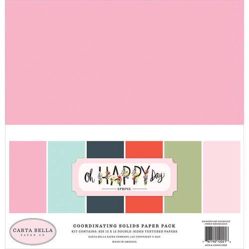 Carta Bella - Oh Happy Day - Solids Paper Pack