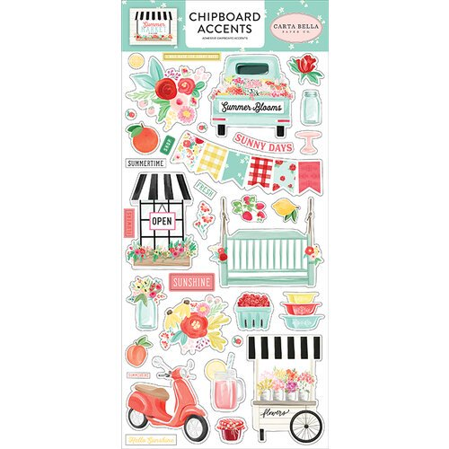 Carta Bella - Summer Market - Chipboard Stickers Accents