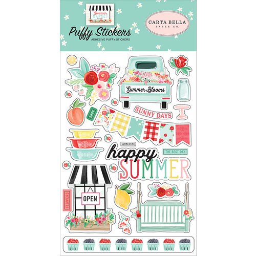 Carta Bella - Summer Market - Puffy Stickers