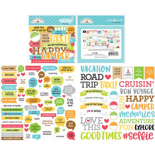 Doodlebug Design - I Heart Travel - Chit Chat Pack