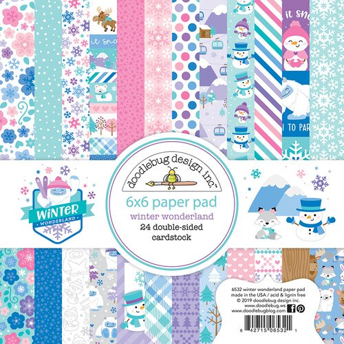 Doodlebug Design - Winter Wonderland - 6 x 6 Paper Pad