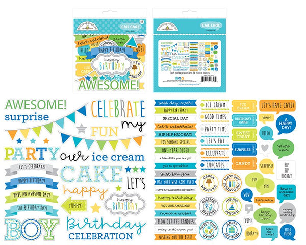 Doodlebug Design - Party Time - Chit Chat Ephemera Pack
