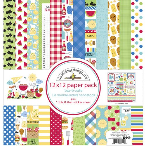 Doodlebug Designs -  Bar-B-Cute - 12x12 Paper Pack